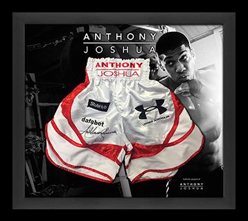 Anthony Joshua signed shorts.